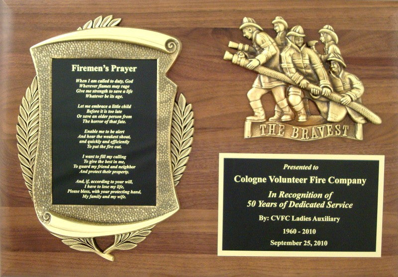 Firemen's Prayer Plaque-Plaque-Schoppy's Since 1921