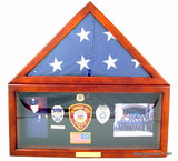 Flag Display Case with Shadow Box-Display Case-Schoppy's Since 1921