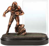 Football Glass Pane Resin Trophy-Trophies-Schoppy's Since 1921