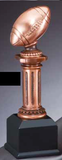 Football Electroplated Pedestal Resin Trophy-Trophies-Schoppy's Since 1921