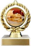 Pie Logo Trophy On Marble Base-Trophy-Schoppy's Since 1921