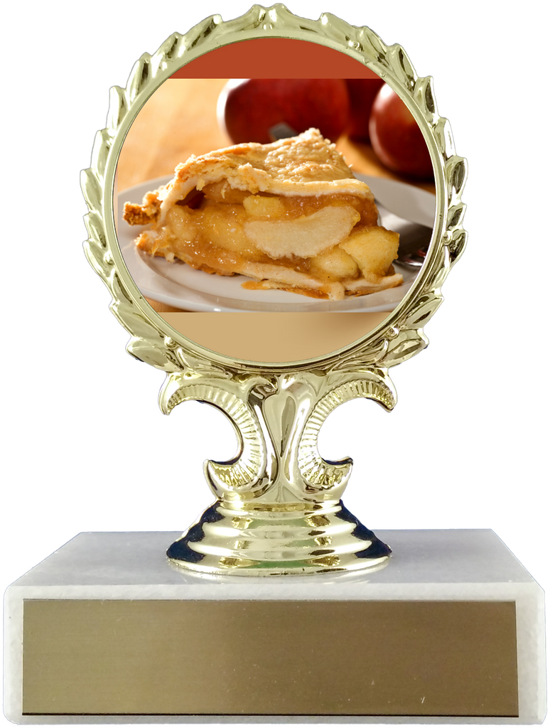 Pie Logo Trophy On Marble Base