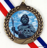 Black Marble King Neptune Paperweight-Paperweight-Schoppy's Since 1921