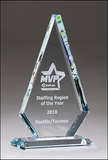 Diamond Series Glass Award with Prism Effect Top-Glass & Crystal Award-Schoppy's Since 1921