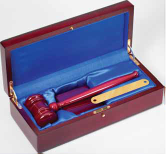 Deluxe Gavel Set - Rosewood Piano Finish