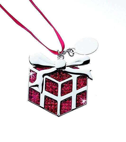 Glitter Galore Red Gift Ornament