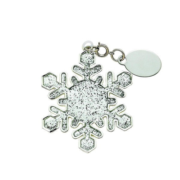 Glitter Galore White Snowflake Ornament-Gift-Schoppy's Since 1921