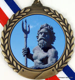 Gold Medal with King Neptune Logo-Medals-Schoppy's Since 1921
