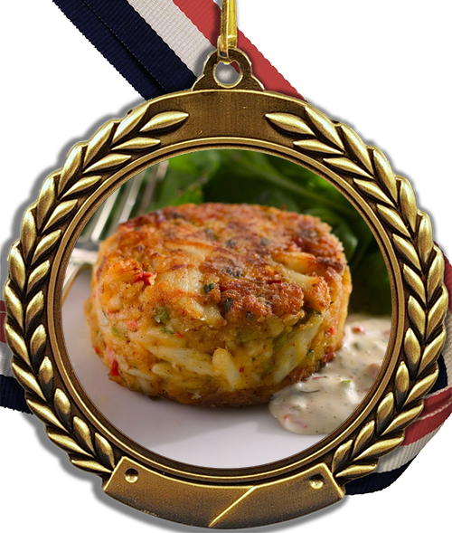 Crustaceans Cake Logo Medal-Medals-Schoppy's Since 1921