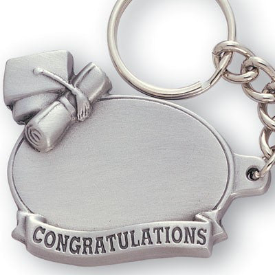 Graduation Sculptured Genuine Pewter Key Chain-Key Chain-Schoppy's Since 1921
