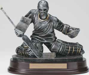 Hockey Butterfly Goalie Resin Trophy