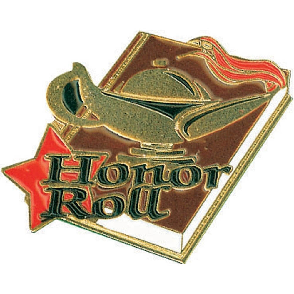 Honor Roll Lamp of Learning Pin