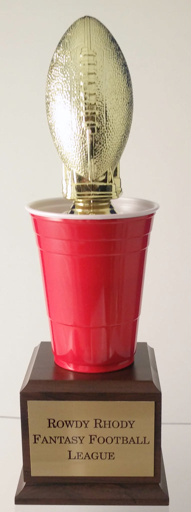 Beer Pong Football Trophy