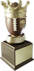 Fantasy Football Crown Small Perpetual Trophy-Schoppy's Since 1921