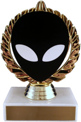 Alien Vector Cut Logo Trophy On Marble-Trophy-Schoppy's Since 1921