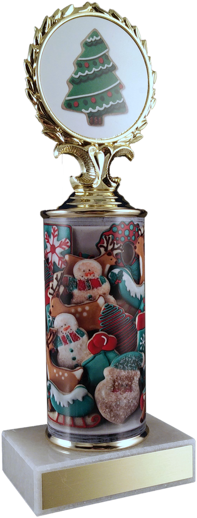 Christmas Cookie Column Trophy On Marble