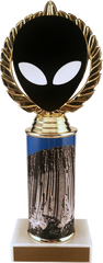 Alien Vector Cut Logo Trophy With Metal Roll Column On Marble-Trophy-Schoppy's Since 1921