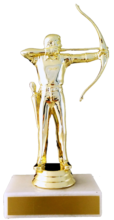 Archery Figure Trophy On Marble Base