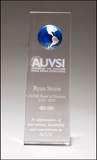 Crystal Trophy with Blue Globe-Glass & Crystal Award-Schoppy's Since 1921