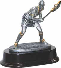 Lacrosse Defense Resin Trophy - Female