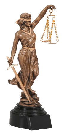 Lady Justice Resin Trophy