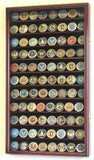 Large Military Challenge Coin Display Case Cabinet - Cherry-Display Case-Schoppy's Since 1921
