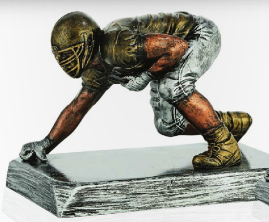 Football Lineman Resin Trophy-Trophies-Schoppy's Since 1921