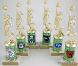 Cheer Trophy with Custom Round Column-Trophies-Schoppy's Since 1921