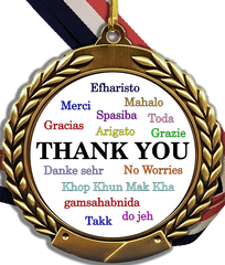 Thank You Logo Medal-Medals-Schoppy's Since 1921