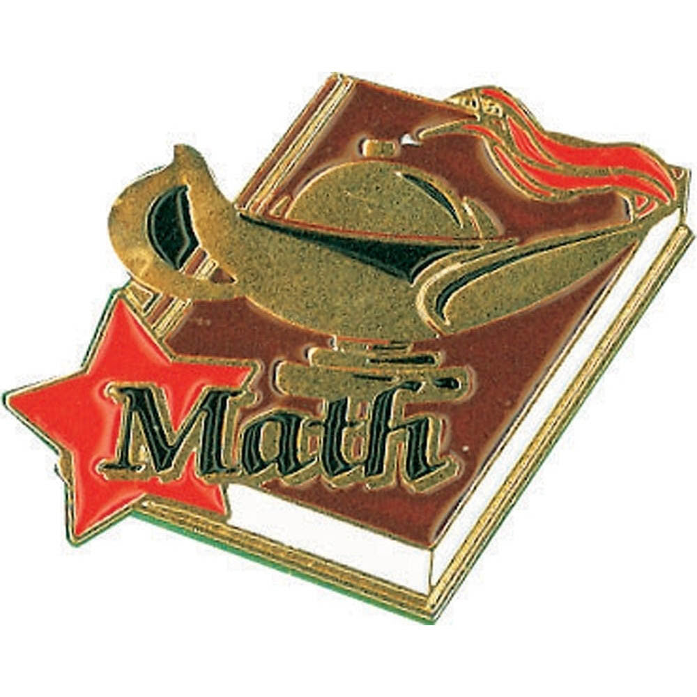 Math Lamp of Learning Pin