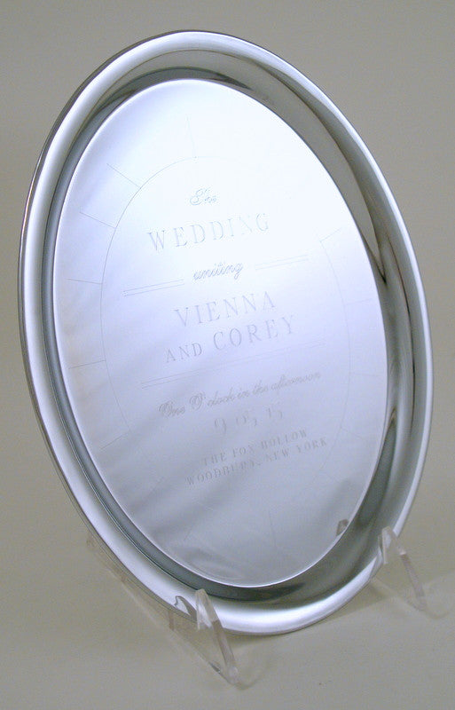 Nickel Plated Oval Invitation Tray