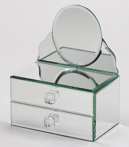 Oval Mirror Jewelry Box