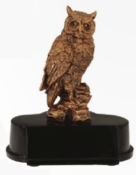 Owl Resin Trophy