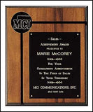 Walnut Groove Plaque 10 x 12-Plaque-Schoppy's Since 1921