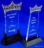 "Pageant Clear Acrylic Trophy 8.75"" Tall-Trophies-Schoppy's Since 1921"