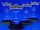 "Pageant Clear Acrylic Trophy 8.25"" Tall-Trophies-Schoppy's Since 1921"