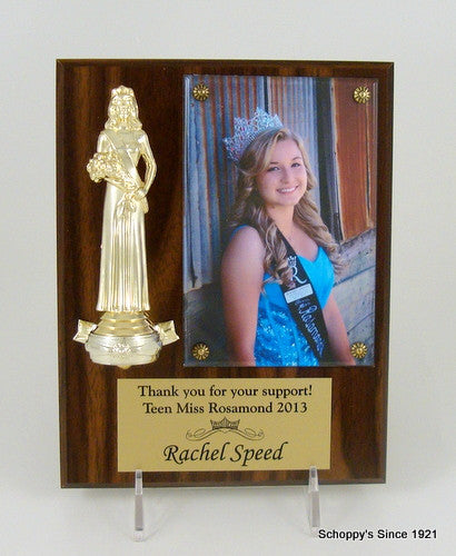 Pageant Beauty Queen Photo Plaque-Pageant-Schoppy's Since 1921