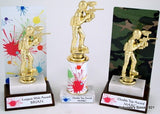 Paintball Trophy On Splatter Round Column-Trophies-Schoppy's Since 1921