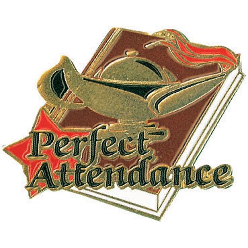 Perfect Attendance Lamp of Learning Pin-Pin-Schoppy's Since 1921