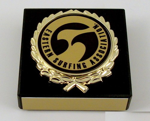 Surf Logo Black Marble Paperweight-Paperweight-Schoppy's Since 1921