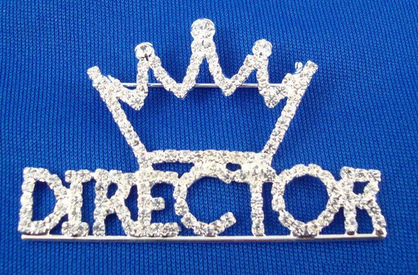Rhinestone Director Pin