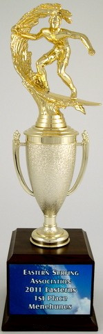 Surf Cup Trophy on Med. Wood Base-Trophies-Schoppy's Since 1921