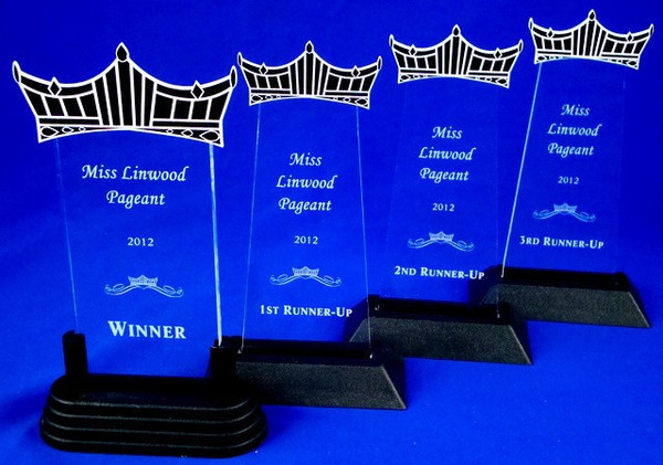 Pageant Acrylic Trophies Set of Four