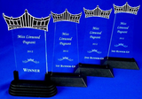 Pageant Acrylic Trophies Set of Four-Trophies-Schoppy's Since 1921