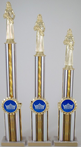 Two Tier Crown Logo Trophy Set