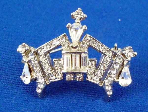 Premium Rhinestone Crown Pin - Medium