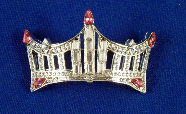 Rhinestone Crown Pin: An Instant Pageant Classic - Pink