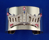 Rhinestone Crown Wrist Cuff - Pink-Pageant-Schoppy's Since 1921