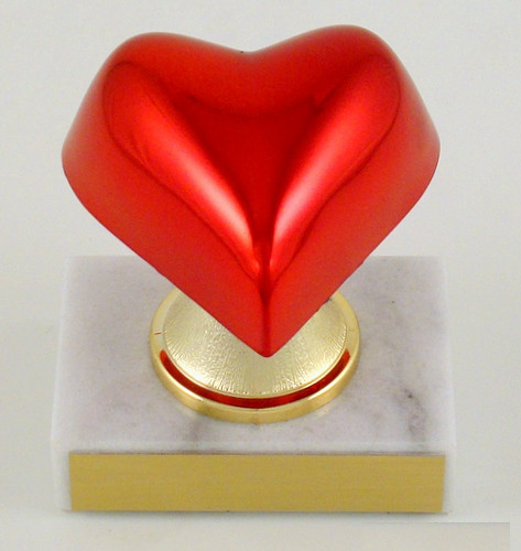 Heart on Stem Riser Trophy