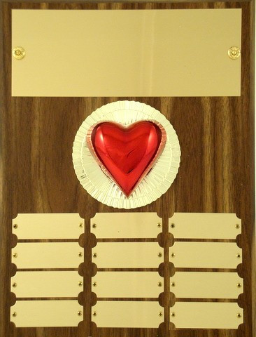 Perpetual Plaque with Heart Figure- 12 plate - 9 x 12-Plaque-Schoppy's Since 1921